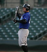 2007:  J.R. House of the Norfolk Tides on deck before an at bat vs the Rochester Red Wings in International League baseball action.  Photo copyright Mike Janes Photography 2007.