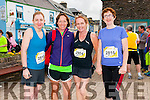 Anne O'Keeffe, Cathy Barry (Castlegregory), Niamh Cullinane (Cloghane) and Sheila O'Keeffe (Cork) at the start of the Dingle Marathon on Saturday morning.