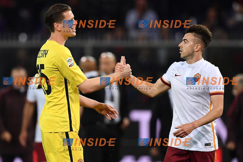Wojciech Szczesny, Stephan El Shaarawy Roma <br /> Genova 02-05-2016 Football Calcio Serie A 2015/2016  Genoa - AS Roma foto Image Sport/Insidefoto