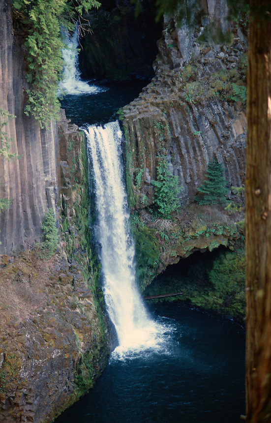 Toketee Falls on the Umpqua River in Douglas County, Oregon