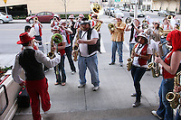 31 March 2008: The Stanford Band send off the team before Stanford's 98-87 win over the University of Maryland in the elite eight game of the NCAA Division 1 Women's Basketball Championship in Spokane, WA.