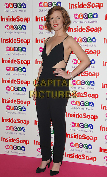 Niamh McGrady <br /> Inside Soap Awards at Ministry Of Sound, London, England.<br /> 21st October 2013<br /> full length black jumpsuit hand on hip cut out away sides <br /> CAP/DS<br /> &copy;Dudley Smith/Capital Pictures