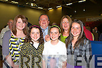 Tom Fleming with his family at the Kerry County Council Killarney area election count in the Aura Sports Centre in Killarney on Saturday