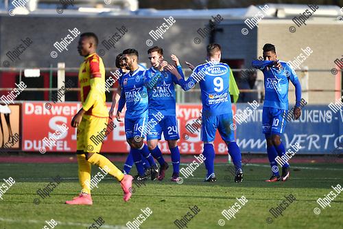 2016-11-27 / Voetbal / Seizoen 2016-2017 / KFC Duffel - Grimbergen / Corentin Gabrielli scoorde voor Grimbergen<br /> <br /> ,Foto: Mpics.be