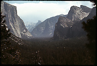 Inspiration Point at Wawona Overlook. Yosemite National Park 29 July 1973. High Speed Ektachrome Daylight Film.