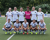 In a National Women's Soccer League Elite (NWSL) match, Portland Thorns FC defeated the Boston Breakers, 2-1, at Dilboy Stadium on July 21, 2013. Portland starting eleven.