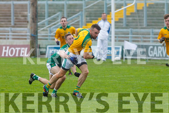 Castlegregory's Tomas O'Connor inaction in the Kerry County Junior Championship on Sunday in Austin Stack Park on Sunday.