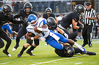 CONWAY VS BENTONVILLE  - Jabrien Earl of Conway gets taken down by tiger defense atTiger Stadium, Bentonville, AR, on Friday September 6. 2019,   Special to NWA Democrat-Gazette/ David Beach