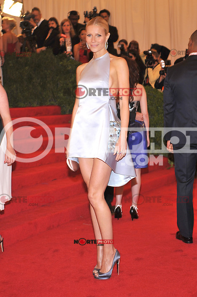 Gwyneth Paltrow at the 'Schiaparelli And Prada: Impossible Conversations' Costume Institute Gala at the Metropolitan Museum of Art on May 7, 2012 in New York City. ©mpi03/MediaPunch Inc.