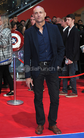 LONDON, ENGLAND - APRIL 26: Mark Strong attends the European premiere of Captain America: Civil War at Westfield Shopping Centre on April 26, 2016 in London, England.<br /> CAP/BEL<br /> &copy;BEL/Capital Pictures /MediaPunch ***NORTH AMERICAN AND SOUTH AMERICAN SALES ONLY***