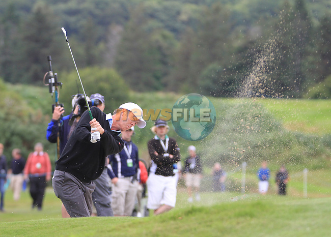 Richard Green (AUS) plays out of a fairway bunker on the 18th hole during Day 1 Thursday of The Irish Open presented by Discover Ireland at Killarney Golf & Fishing Club on Wednesday 28th July 2011 (Photo Jenny Matthews/www.golffile.ie)