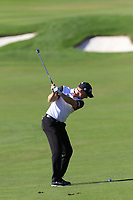 Richard McEvoy (ENG) plays his 2nd shot on the 18th hole during Friday's Round 2 of the 2018 Turkish Airlines Open hosted by Regnum Carya Golf &amp; Spa Resort, Antalya, Turkey. 2nd November 2018.<br /> Picture: Eoin Clarke | Golffile<br /> <br /> <br /> All photos usage must carry mandatory copyright credit (&copy; Golffile | Eoin Clarke)