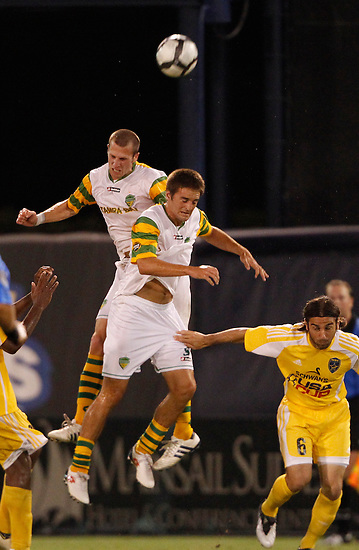 May 27, 2010; TAMPA, FLORIDA: The FC Tampa Bay Rowdies during a 3-1 victory over the Minnesota Stars at Steinbrenner Field in Tampa, Florida. Photo by Matt May/FC Tampa Bay Rowdies