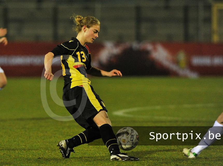 Netherlands U17 - Belgium U17 : Margaux Van Ackere.foto Joke Vuylsteke / Vrouwenteam.be