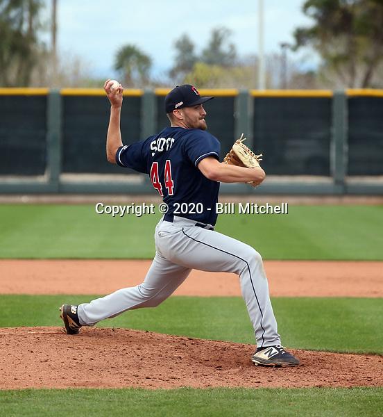 Adam Scott - Cleveland Indians 2020 spring training (Bill Mitchell)