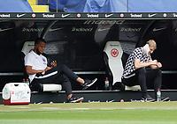 Timothy Chandler (Eintracht Frankfurt), Martin Hinteregger (Eintracht Frankfurt)<br /> - 27.06.2020: Fussball Bundesliga, Saison 19/20, Spieltag 34, Eintracht Frankfurt vs. SC Paderborn 07, emonline, emspor, Namen v.l.n.r. <br /> <br /> Foto: Marc Schueler/Sportpics.de/Pool <br /> Nur für journalistische Zwecke. Only for editorial use. (DFL/DFB REGULATIONS PROHIBIT ANY USE OF PHOTOGRAPHS as IMAGE SEQUENCES and/or QUASI-VIDEO)