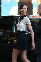 Zoe Saldana leaving the Martinez hotel -  67th Annual Cannes Film Festival - France