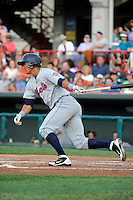 Binghamton Mets outfielder Pedro Zapata #26 during a game against the Erie Seawolves at Jerry Uht Park on June 23, 2012 in Erie, Pennsylvania.  Erie defeated Binghamton 5-3.  (Mike Janes/Four Seam Images)