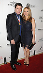 John Travolta and Kelly Preston arriving at the 11th Annual Living Legends of Aviation Awards, held at The Beverly Hilton Hotel