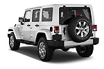 Car pictures of rear three quarter view of 2017 JEEP Wrangler-Unlimited Sahara 5 Door SUV Angular Rear