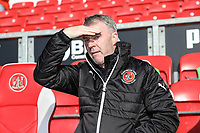 New Fleetwood Town Manager John Sheridan ahead during the Sky Bet League 1 match between Fleetwood Town and MK Dons at Highbury Stadium, Fleetwood, England on 24 February 2018. Photo by David Horn / PRiME Media Images