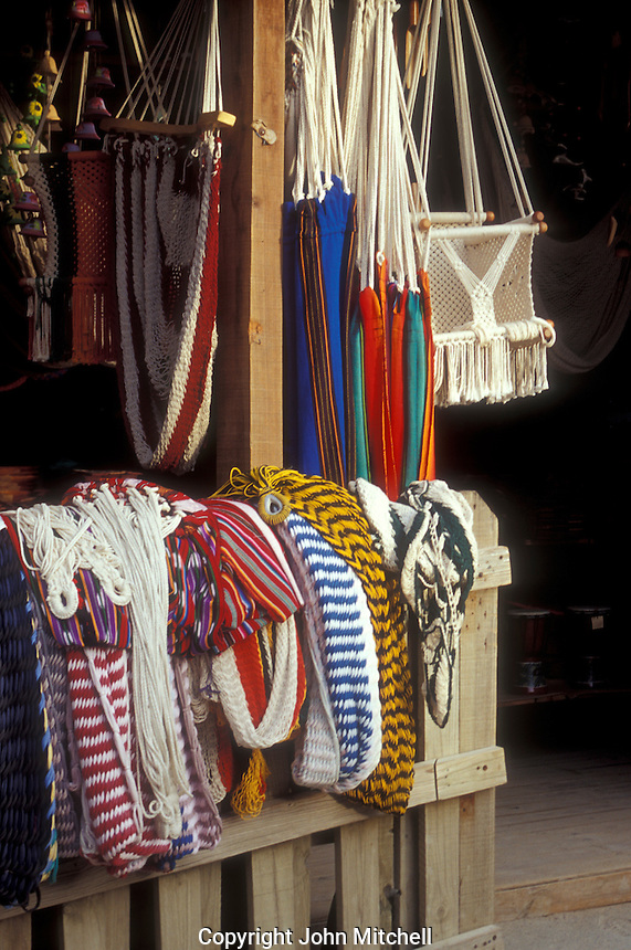 Hammocks for sale in the town of West End on the Island of Roatan, Bay Islands, Honduras