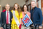 Síle Reidy, Luxembourg Rose  with her parents Mike and Joan and Daithai O'Se at the Rose of Tralee Hotel on Tuesday Evening.