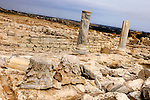 Travel stock photo of a Ancient remains The Northeastern Portico of the Roman Agora Late 2nd century AD at The Archaeological Site of Kourion in Cyprus 2007 Horizontal