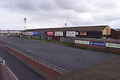 23/06/2000 Blackpool FC Bloomfield Road Ground..Rear of west stand from Blomfield Rd bridge...© Phill Heywood.