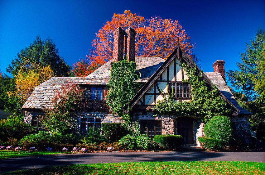 Tudor style home, Danbury, Connecticut USA