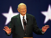 New York, NY - August  30, 2004 --  Former New York City Mayor Ed Koch speaks at the 2004 Republican National Convention at Madison Square Garden in New York, New York on Monday, August 30, 2004..Credit: Ron Sachs / CNP   .(RESTRICTION: No New York Metro or other Newspapers within a 75 mile radius of New York City)