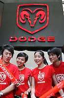 Dodge Press Conference Rehearsal in Shanghai, China, on April 19, 2007. Photographer: Lucas Schifres/Pictobank.