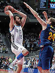 Real Madrid's Sergio Rodriguez (l) and FC Barcelona Regal's Brad Oleson during Liga Endesa ACB 1st Final match.June 9,2013. (ALTERPHOTOS/Acero)