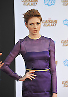 Karen Gillan at the world premiere of her movie &quot;Guardians of the Galaxy&quot; at the El Capitan Theatre, Hollywood.<br /> July 21, 2014  Los Angeles, CA<br /> Picture: Paul Smith / Featureflash
