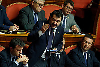 Matteo Salvini's speech<br /> Rome December 12th 2019. Speech of the Italian Premier about MES, European Stability Mechanism.<br /> Foto Samantha Zucchi Insidefoto