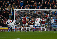 30th November 2019; Turf Moor, Burnley, Lanchashire, England; English Premier League Football, Burnley versus Crystal Palace; Jordan Ayew of Crystal Palace puts the ball into the net after 38 minutes but it is disallowed by VAR - Strictly Editorial Use Only. No use with unauthorized audio, video, data, fixture lists, club/league logos or 'live' services. Online in-match use limited to 120 images, no video emulation. No use in betting, games or single club/league/player publications