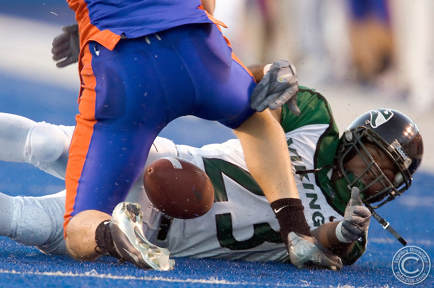 10-08-05 Boise, ID. Boise State vs. Portland State football. Boise State won 21-14 in Bronco Stadium.