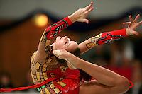 Karolina Raskina of Germany (junior) turns pivot in ring position at Schmiden Tournament on March 10, 2007 at Schmiden, Germany.