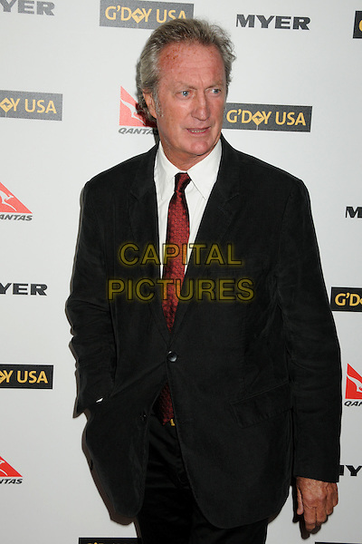 BRYAN BROWN .Attending the 2010 G'Day USA Australia Week Black Tie Gala held at the Hollywood & Highland Grand Ballroom, Hollywood, California, USA, .16th January 2010..arrivals half length red tie black suit .CAP/ADM/BP.©Byron Purvis/Admedia/Capital Pictures