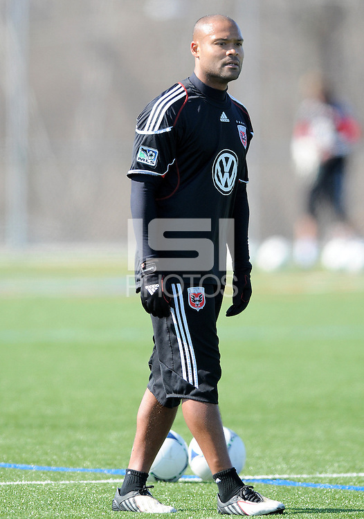 D.C. United defender Robbie Russell (3) During the first training session after returning from Arizona, at Long Bridge Park in Arlington Virginia, Monday February 20, 2012.