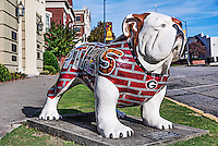 University of Georgia Bulldog sculpture, Athens, Georgia, USA