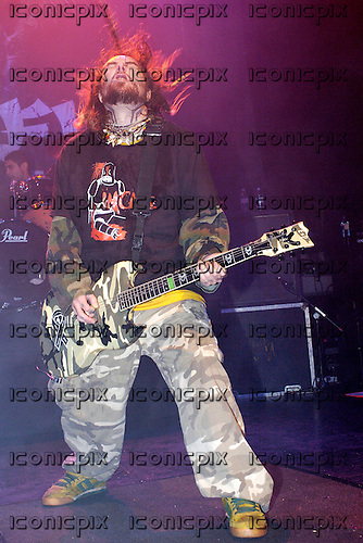 Soulfly - vocalist and guitarist Max Cavalera - performing live at the Astoria in London UK - 07 Feb 2006.  Photo credit: George Chin/IconicPix