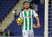 30th October 2017, Cornella-El Prat, Cornella de Llobregat, Barcelona, Spain; La Liga football, Espanyol versus Real Betis;Tosca of Betis frustrated at leaking a goal