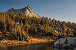 Vogelsang Peak rising above Boothe Lake, Yosemite National Park, California