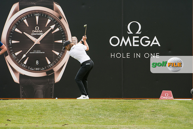 Tommy Fleetwood (ENG) in action on the 13th hole during final round at the Omega European Masters, Golf Club Crans-sur-Sierre, Crans-Montana, Valais, Switzerland. 01/09/19.<br /> Picture Stefano DiMaria / Golffile.ie<br /> <br /> All photo usage must carry mandatory copyright credit (© Golffile   Stefano DiMaria)