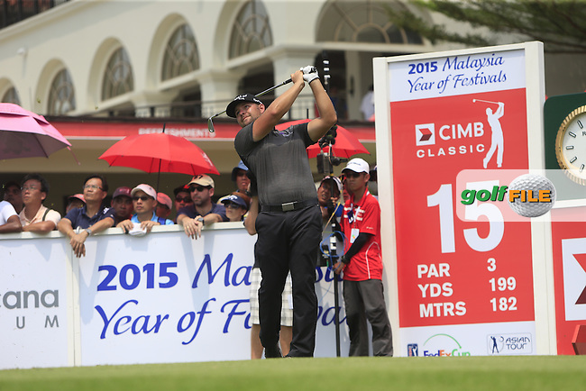 Ryan Moore (USA) on the 15th tee during Round 4 of the CIMB Classic in the Kuala Lumpur Golf &amp; Country Club on Sunday 2nd November 2014.<br /> Picture:  Thos Caffrey / www.golffile.ie