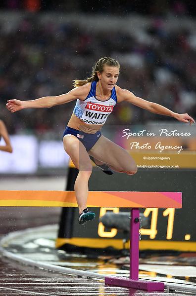 LennieWAITE (GBR) in the womens 3000m steeplechase heats. IAAF world athletics championships. London Olympic stadium. Queen Elizabeth Olympic park. Stratford. London. UK. 09/08/2017. ~ MANDATORY CREDIT Garry Bowden/SIPPA - NO UNAUTHORISED USE - +44 7837 394578