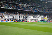 13th September 2017, Santiago Bernabeu, Madrid, Spain; UCL Champions League football, Real Madrid versus Apoel; Real Madrid fans' banner with the message PATH TOWARD THE THIRTEENTH.