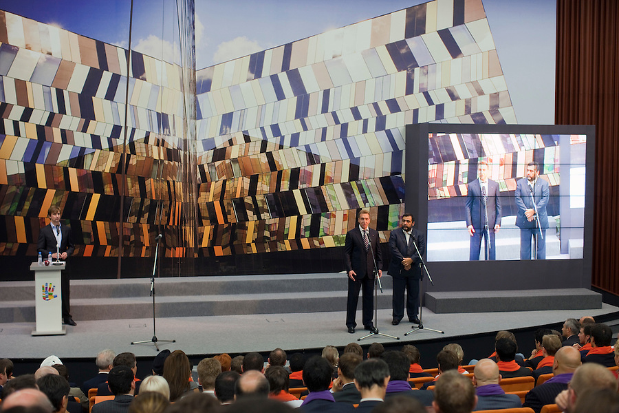 Skolkovo, Russia, 17/09/2011..Awards and fifth anniversary celebrations at Skolkovo Moscow School of Management. The prestige school, which was founded in 2006, is a joint project by major Russian and international business leaders.