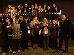 Some of the people who took part in the candlelight ceremony at the Cottage hospital. Photo:Colin Bell/pressphotos.ie